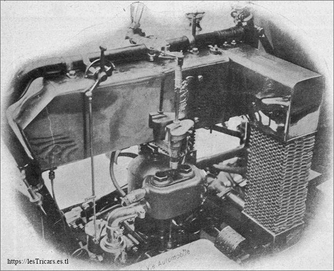 le moteur du tricar Griffon 1907