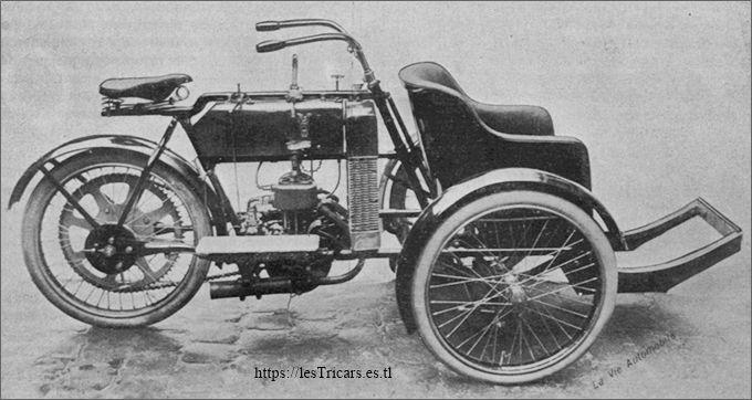 tricar Griffon 1907, côté droite