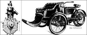 Ateliers d'Ivry: Moteur et tricar de la marque Ivry (Compagnie Générale d'Ëlectricité).