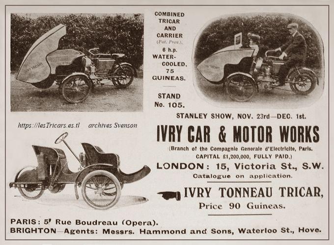 tricar Ivry, photos. Agence London
