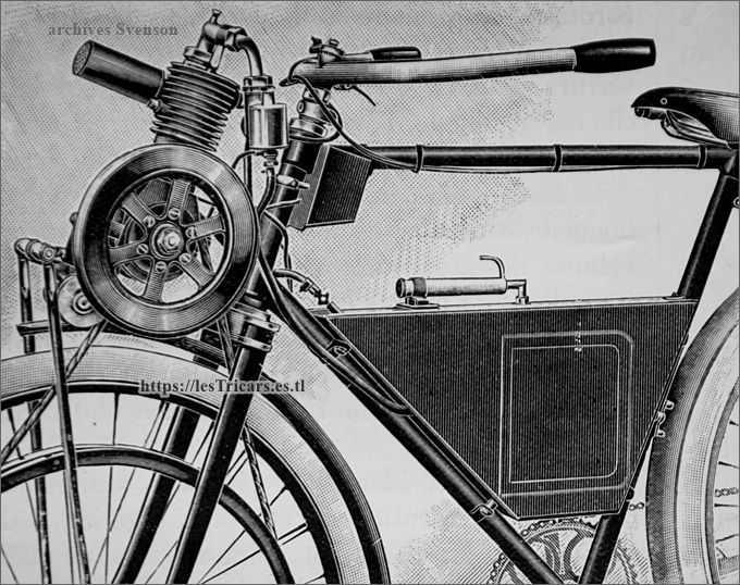 Tractocyclette Journaux 1906 à moteur Garreau