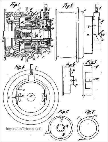Friedrich Kupke, brevet pour changement de vitesse, 1905