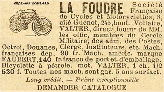 La Foudre, publicité 1902