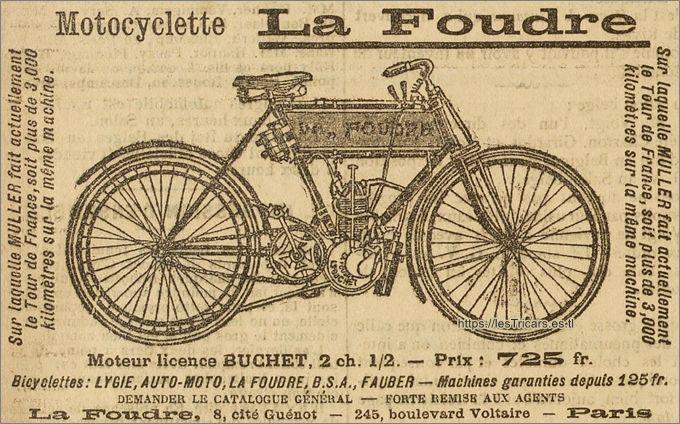 La Foudre, publicité 1903