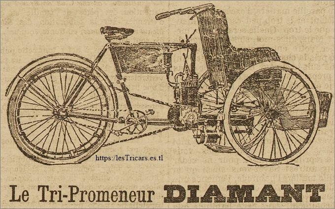 dessin publicitaire du Tri-Promeneur La Française, 1901-1902
