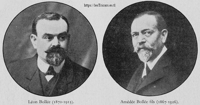 portraits de Léon Bollée et Amédée Bollée