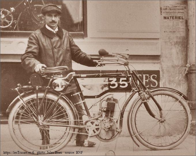 Lepetit sur motocyclette Stimula 1904 Paris-Bordeaux