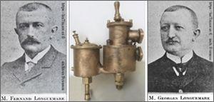 Les frères Longuemare, Fernand et georges, et leur carburateur.