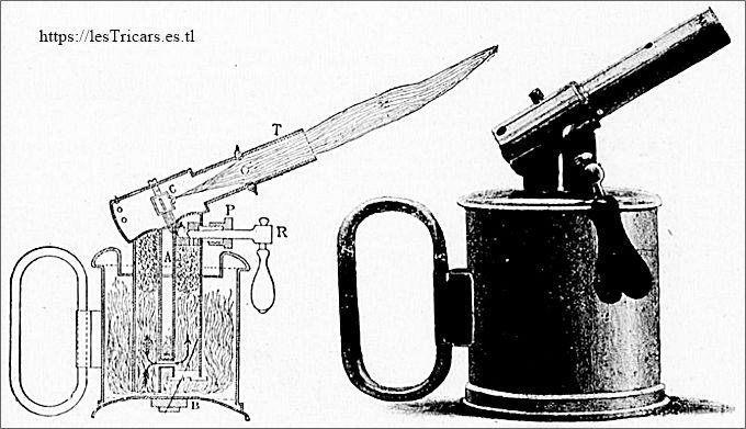 La lampe à souder, breveté par Longuemare en 1891