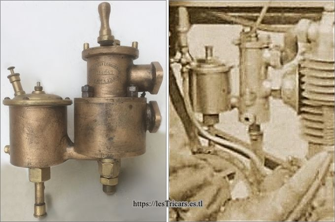 carburateur longuemare série B et détail moteur Villemain