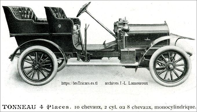 Lurquin-Coudert, tonneau 4 places 1908