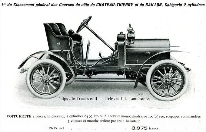 Lurquin & Coudert, voiturette 1908