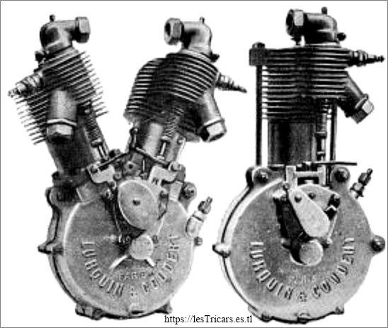deux moteurs Lurquin-Coudert, 1908