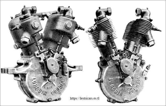 Lurquin-Coudert, moteurs 2 cylindres 1908