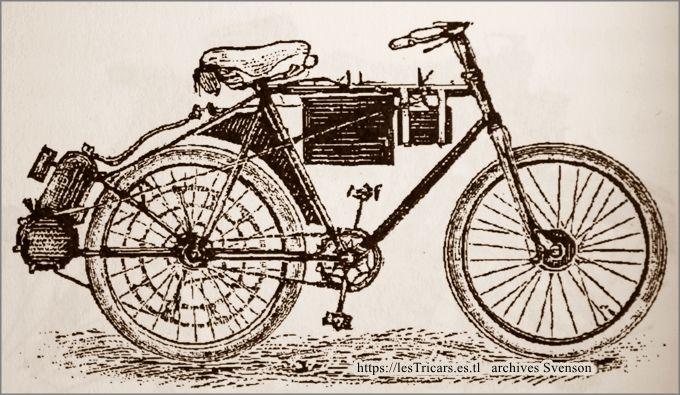 motobicyclette Pernoo, côté droite. Dessin