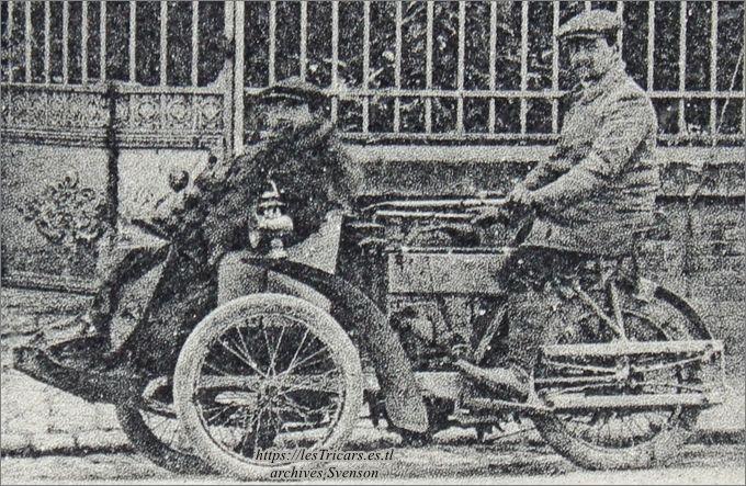 Tricar Contal à suspension arrière, détail