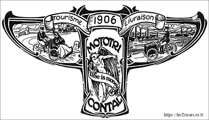 insigne de la marque Contal mototri