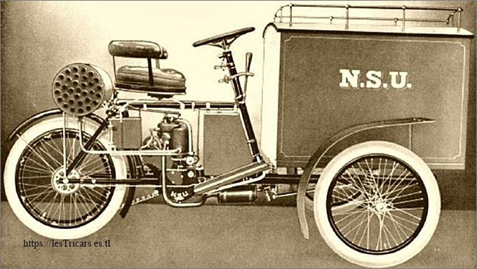 NSU tricar 4cv modèle livraison