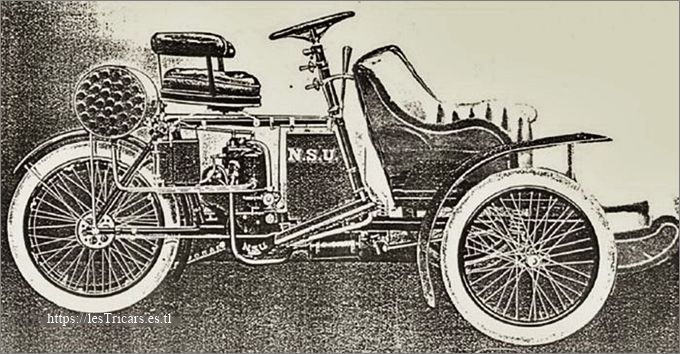 NSU tricar, 1904 avec baquette avant
