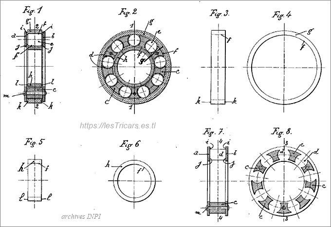 Ligez, roulements à billes, brevet 1919