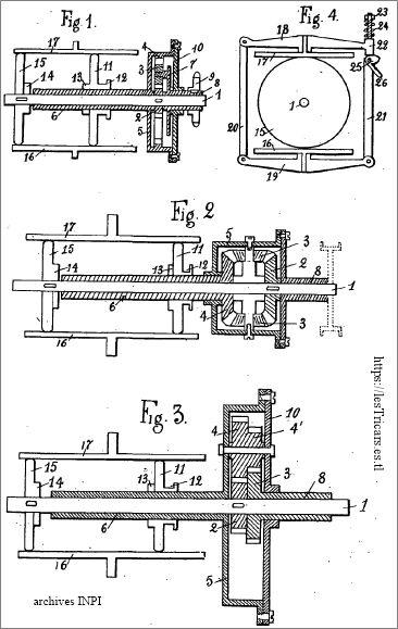 changement progressif... brevet Rivierre mars 1907. Dessin