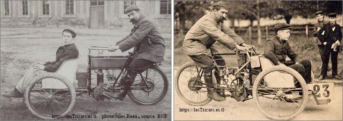 Rivierre sur mototri Contal à Château-Thierry le 30/9/1905 et à Gaillon le 15/10/1905