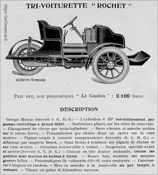 trivoiturette Rochet, 1901