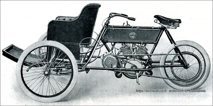 Tricar Stimula 2 cylindres, 1906