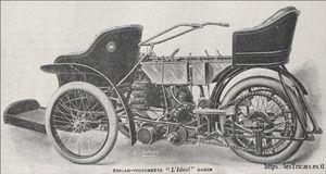 Le tricar construit par Emile Bonin