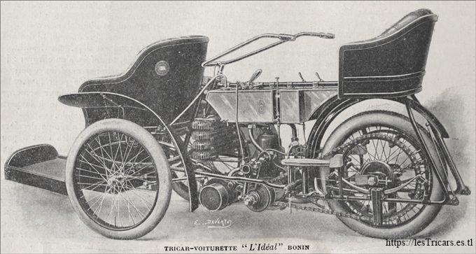 Bonin, tricar L'Idéal, 1906