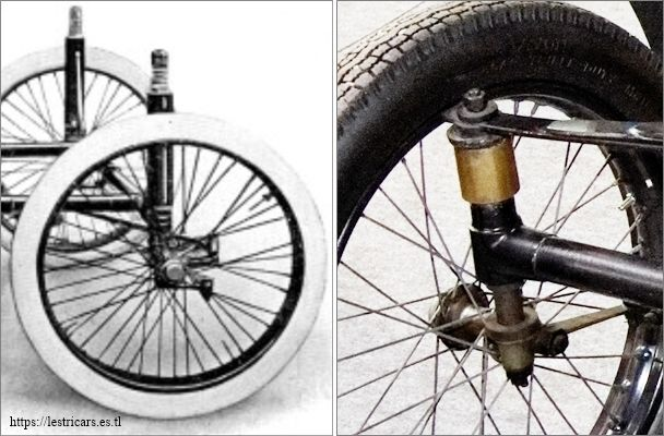 La suspension avant Lurquin et Coudert et suspension d'une voiturette Décauville