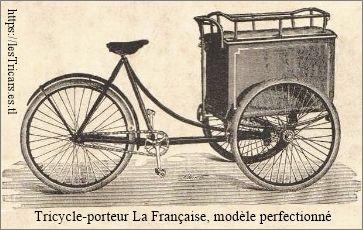 Tricycle-porteur (vélo) de la marque La Française