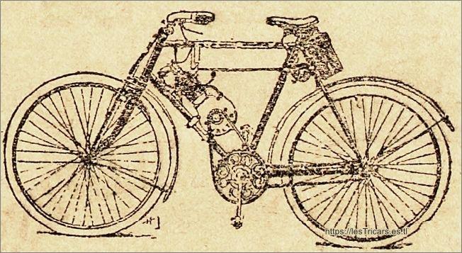 Bicyclette à pétrole Valter, 1901, détail