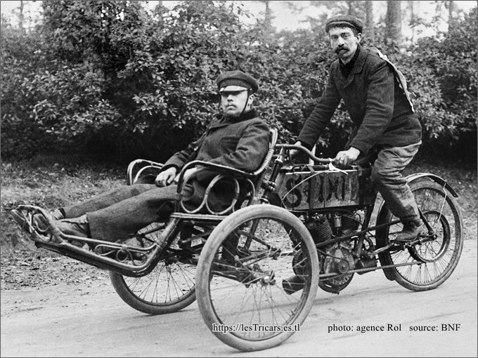 Vandelet sur tricar Stimula, Dourdan 1905