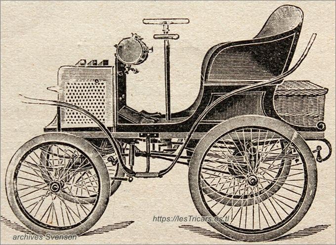 La voiturette construite par Gaston Rivierre en 1899