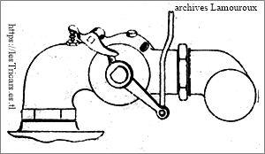 pipe d'admission du carburateur Werner 1905