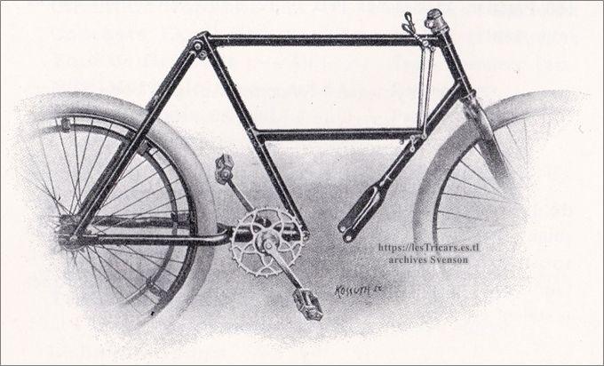 Werner, cadre pour motocyclettes 1903