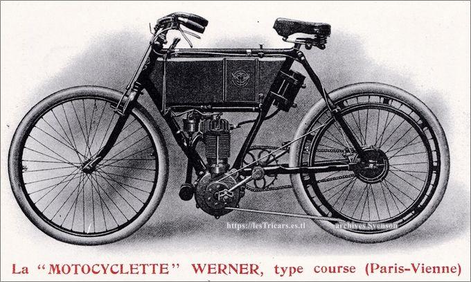 motocyclette Werner type course Paris-Vienne, modèle 1903