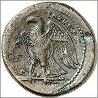 Monnaie hellenistique aigle de Zeus