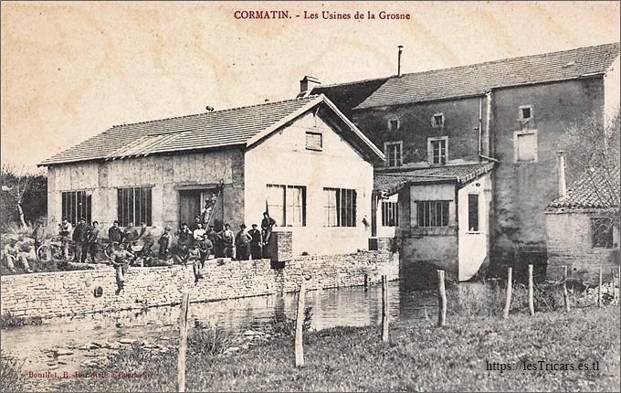 Cormatin, Usines de la Grosne, vue avec ouvriers