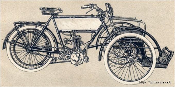 L'avant-train Diamant pour motocyclettes La Française, 1905