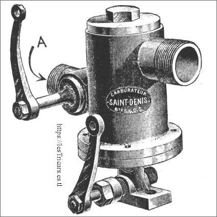 carburateur Saint-Denis Bonnières, 1901, dessin