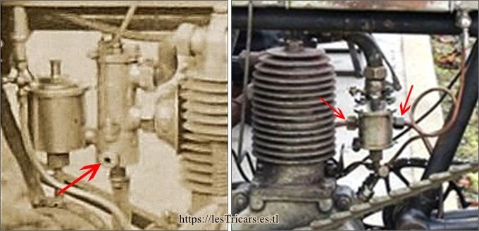 carburateurs Longuemare montés sur des moteurs Villemain, photos