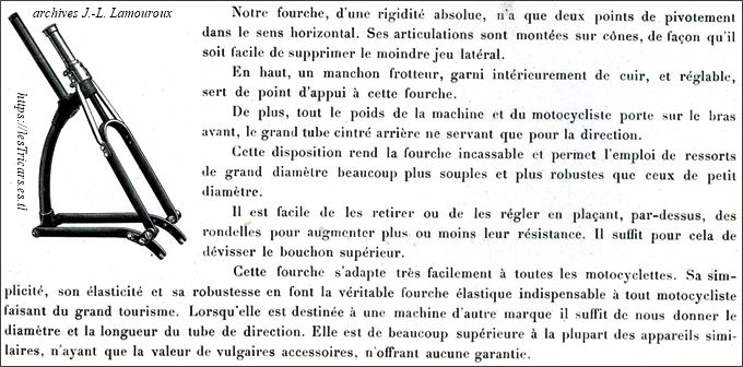 fourche élastique Stimula-Saclier, catalogue 1906
