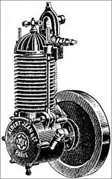 moteur de la motocyclette Albert Jean