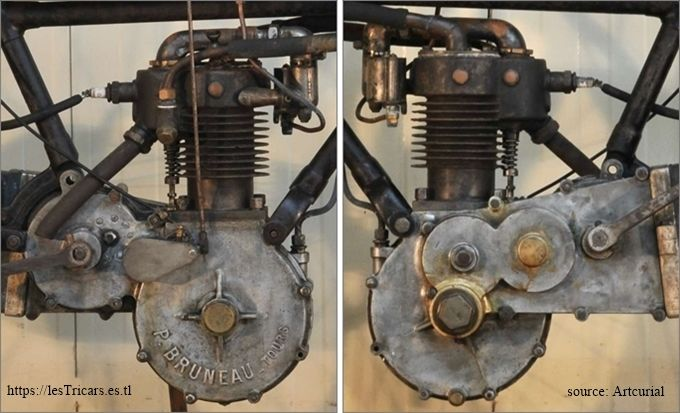 le moteur de la motocyclette type MH, 1905