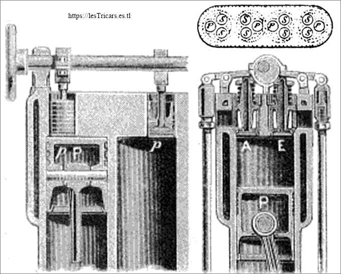 coupe de la culasse du moteur Fulgur, 1904