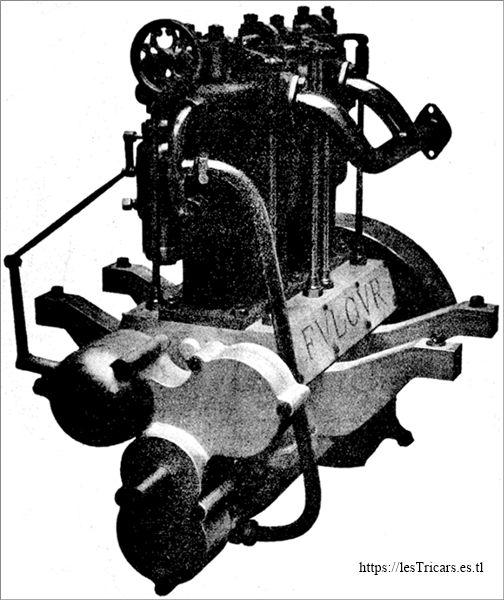 Le moteur Fulgur, breveté par Cannevel et Journaux en 1903