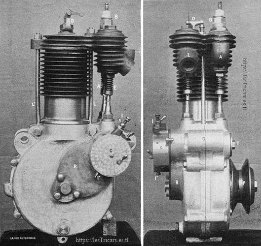 Le moteur Werner monocylindre, 1904