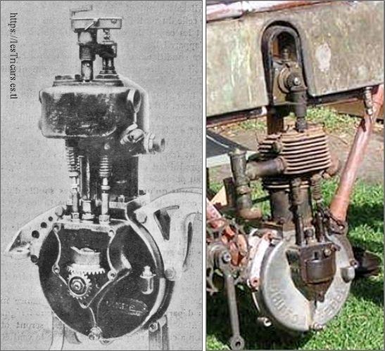 moteur Zedel 1906, deux vues